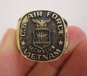 Nhẫn bạc khối Không quân tham chiến tại Việt Nam, lớp áo vàng cực mới và đẹp