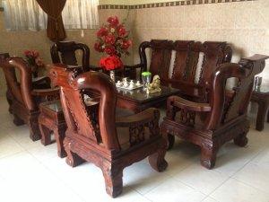 Bộ ghế 10 món Cẩm lai việt tay 14