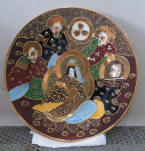 Đĩa  5 vị thần nhật bản quý hiếm hoa văn tinh xảo