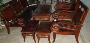 bộ salon tay cuộn ghế 3 gõ đỏ 7 món