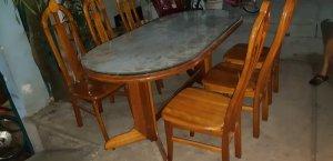 bộ bàn ăn gỗ xoan đào .6 ghế