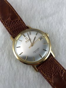 Omega Seamaster (Deville) Automatic solid 18k gold Cal562 White Silver dial
