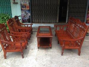 Bộ ghế gỗ hương song tiện