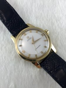 Omega Seamaster Automatic solid 18k gold Heavy Cal501 dial's Numeric