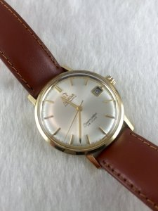Omega Seamaster Deville Automatic solid 18k gold White dial