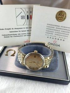 Omega Seamaster Deville Automatic demi 14k & Bracelet 14k GF Cal563 complete fullbox
