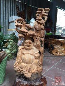 Cụ Di Lặc gỗ ngọc am Hà  Giang...
