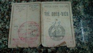 Thẻ Đoàn viên NDTV trước 1975