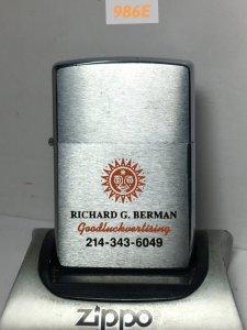 .986E—Brushed chrome 1998 -RICHARD G BERMAN