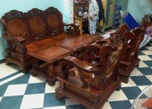 Bộ salon gỗ căm xe