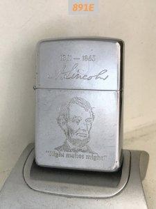891E-Hp chrome 1989 Chân dung và chữ ký tổng thống Mỹ ABRAHAM LINCOLN -