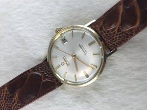 Omega Seamaster Deville Automatic solid 14k gold Cal563 White dial