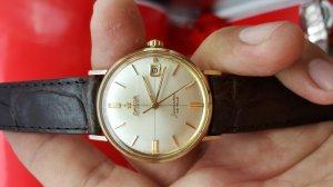 Omega seamaster deville vỏ vàng khối trục tung hoành xưa chính hãng
