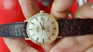 Omega seamaster deville vỏ vàng khối 14k xưa chính hãng