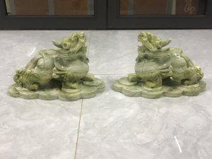Tỳ hưu-LINH VẬT CHIÊU TÀI-Đá xanh tự nhiên.MS 9006