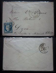 Phong bì thực gửi của Pháp dán tem Ceres trên 100 năm