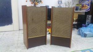 Đôi vỏ thùng loa toàn dải NATIONAL cổ (Made in Japan) lắp củ 20 cm.