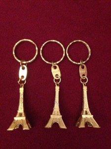 03 móc khoá tháp Eiffel, Paris, France mới chưa dùng, giá bán 150k