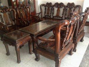 Bộ ghế gỗ mun sọc