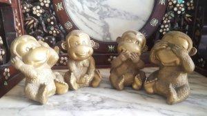 Bộ 4 con khỉ dễ thương