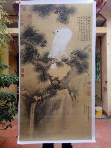 """Giao lưu tranh """"Bạch điểu"""" của họa sỹ cung đình nhà Thanh Lang Thế Ninh."""