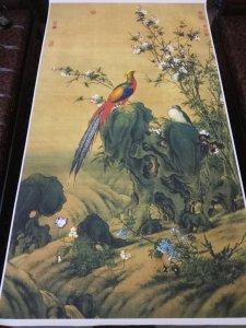 Giao lưu bức Phù dung chim trĩ của họa sỹ cung đình nhà Thanh Lang Thế Ninh