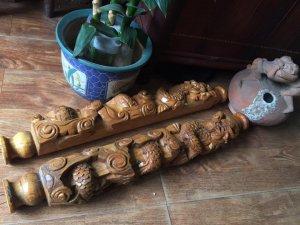 đôi cây gỗ trạm đục song long