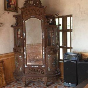 tủ chùa tích cẩn ốc đỏ hàng tái cũ