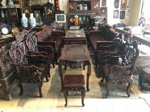 Bộ bàn ghế Ngũ Phúc Bổng Thọ