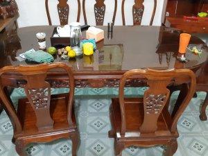 bộ bàn ăn 6 ghế gỗ hương