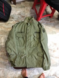 Áo field jacket m65 U.S Medium Short