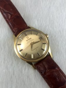 """Omega Constellation Pie Pan Chronometer Automatic """"dog leg lugs"""" solid 18k gold Case & Dial Cal561"""