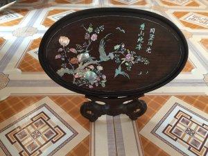 đĩa khảm chim hoa