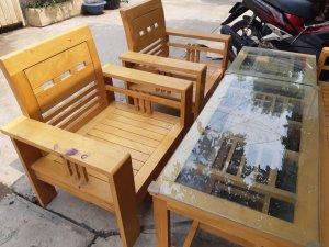 salon gỗ sồi