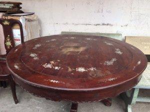bộ bàn ăn 6 ghế gỗ chiu liu