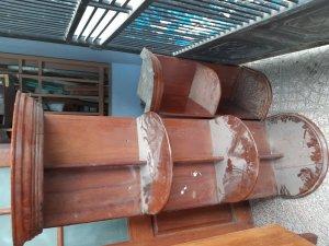 2 kệ gỗ hương