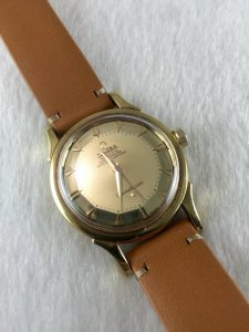 Omega Constellation Pie Pan Mirror Chronometre Auto solid 18k Case & Dial Arrowhaed Cal505