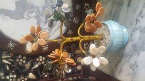 Chậu cây hoa hoa đá