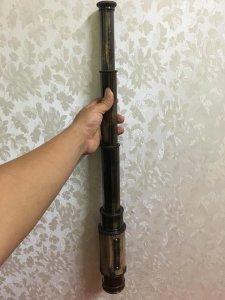Giao lưu với các Bác quả ống nhòm cực đẹp dài 62cm thu gọn 21cm. Toàn thân bằng đồng bọc da. Giá mềm