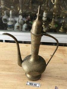 Bình Rượu Bằng Đồng MADE IN INDIA - Đồ Xưa