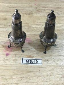 Bộ 2 Hủ ()MS 49 - Bằng Bạc - Đồ  Xưa - Hàng Xách tay Từ Mỹ
