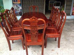 Bàn ăn gỗ cẩm lai việt 8 ghế