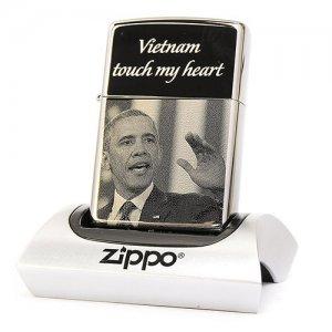 Bật lửa Zippo chính hãng khắc Obama Z116