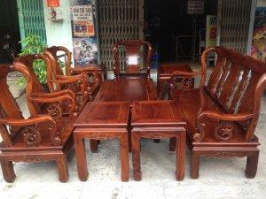 Bộ ghế cẩm lai việt 10 món tay 8