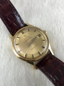 Omega Constellation Pie Pan Chronometer Automatic solid 14k & Dial 18k Cal561