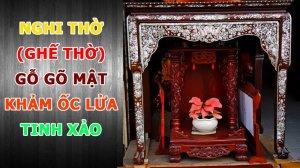 Ghế thờ gỗ Gõ Mật cao cấp Mộc Gia 68