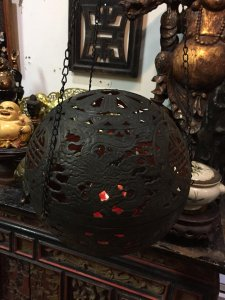 đèn treo quả cầu rồng thọ ba dây