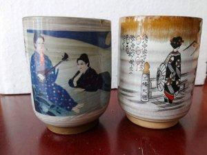 2 Ly vẽ cô gái mặc kimono, hàng Nhật