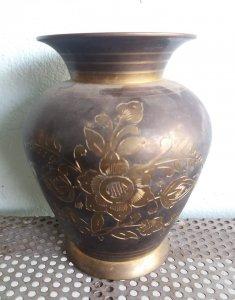 Bình đồng cổ xưa quý hiếm hoa văn tinh xảo