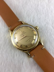 Omega Gran Luxe Constellation Pie Pan Stepped Chronometre Automatic solid 18k gold Case & Dial Cal35
